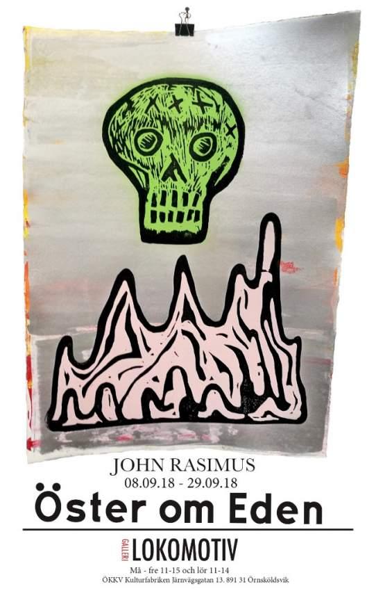 Konstverk av John Rasimus ska visas här